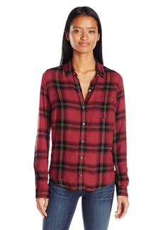 OBEY Junior's Ammalyn Button Down Plaid Shirt  M