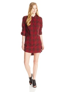 OBEY Women's Bex Plaid Shirt Dress