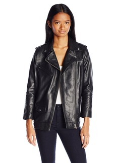 OBEY Women's Diablo Leather Jacket