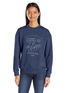 OBEY Women's Edge of Destruction Crew Neck Sweatshirt  L