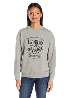 OBEY Women's Edge of Destruction Crew Neck Sweatshirt  S