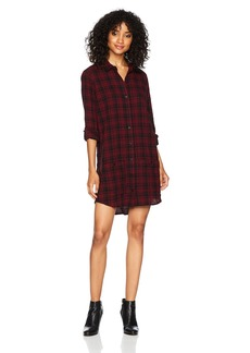 OBEY Women's Fairuza Shirt Dress Cranberry Multi S