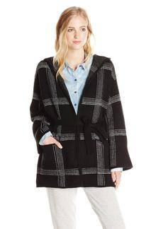 Obey Women's Flynt Wrap Oversized Sweater Coat  Medium/Large