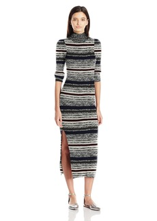 OBEY Junior's Hanna Mock Neck Sweater Dress  L