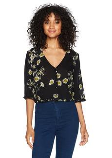 Obey Women's Hattie Button Front Shirt  S