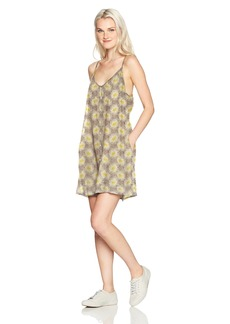 Obey Women's Hattie Button Front Strappy Dress  M