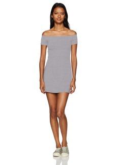 OBEY Women's Hi Tide Off the Shoulder Dress  M