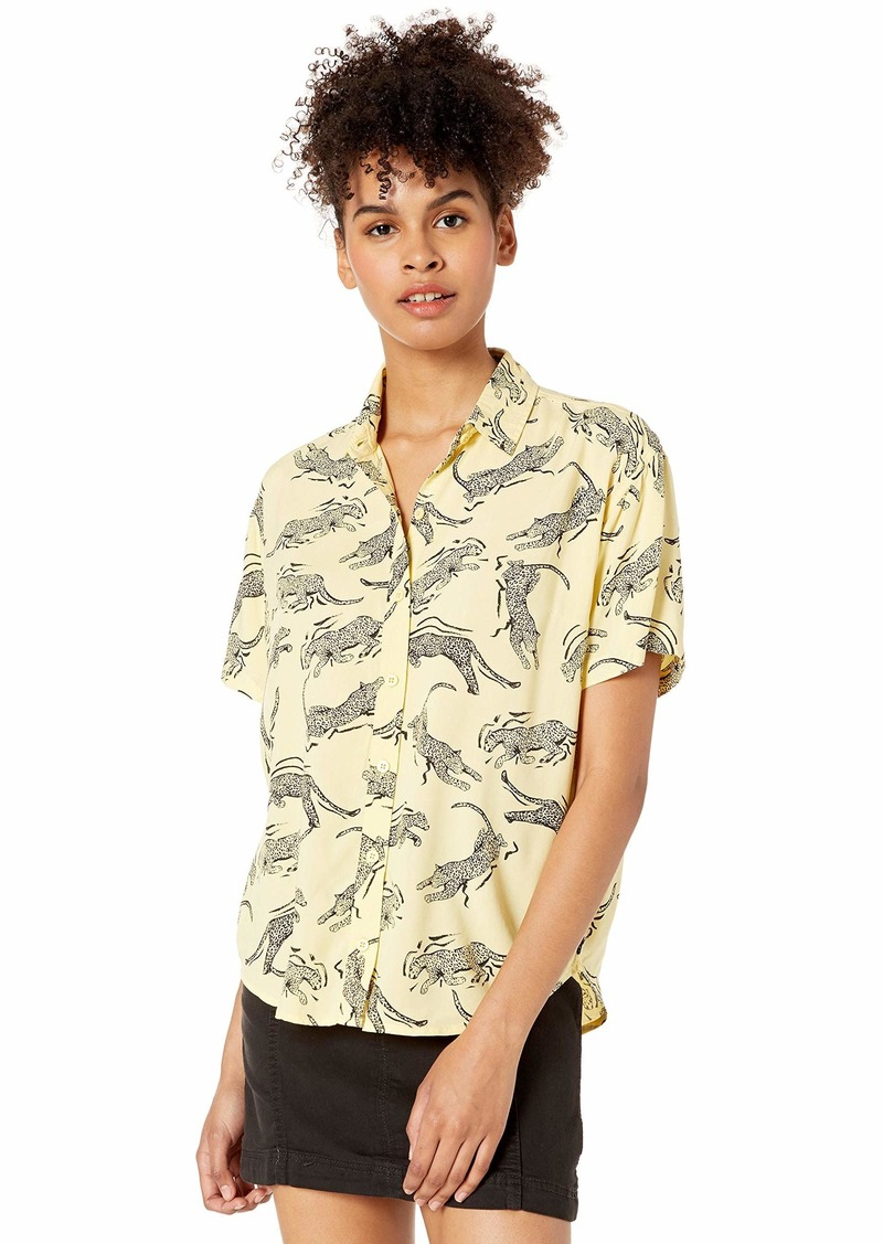 OBEY womens Jagged Shirt Button Down Shirt