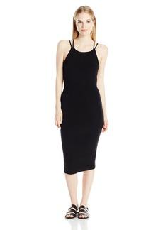 OBEY Junior's Joan Strap Back Bodycon Midi Dress  L