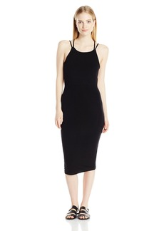 Obey Junior's Joan Strap Back Bodycon Midi Dress  S