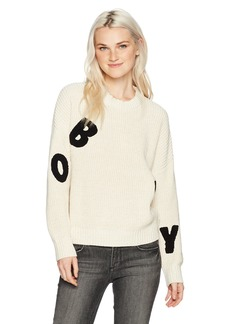 Obey Women's Jumbled Crewneck Sweater  L