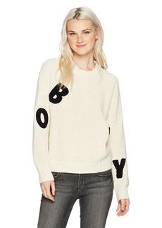 Obey Women's Jumbled Crewneck Sweater  M