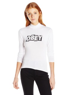 Obey Junior's Jumbled Fitted Mock Neck Tee  M