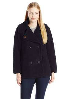 OBEY Women's Karina Peacoat with Oversized Collar  L