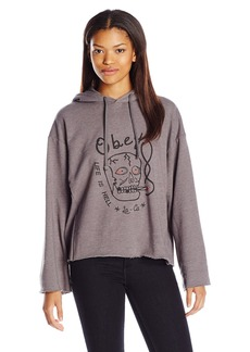 OBEY Women's Life IS Hell Oversized Pullover Hoodie