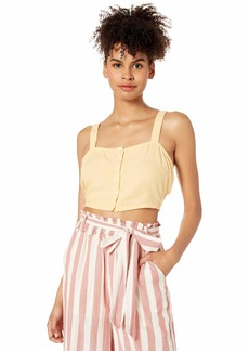 OBEY womens Monte Crop Top Cami Shirt