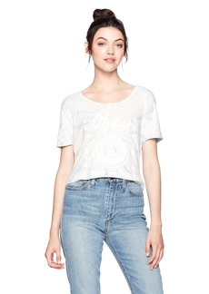 OBEY Women's No Future Scoop Neck Vintage Dye Tee  S