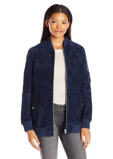 OBEY Women's Nomads Suede Bomber Jacket