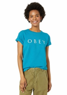 OBEY womens NOVEL 2 T-Shirt LARGE