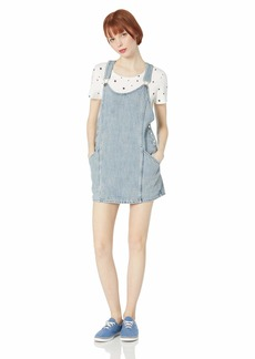 OBEY Womens Orchard Overall Dress  X-LARGE