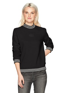 Obey Women's Quinn Mock Neck Fleece Sweatshirt  M