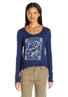 OBEY Women's Rose Grid Lightweight Long Sleeve Graphic Tee