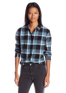 Obey Women's Ruby Lake Classic Tailored Fit Plaid Flannel Shirt