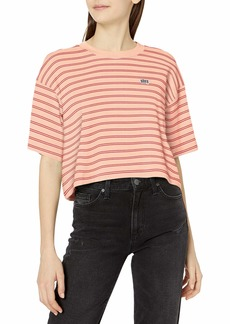 Obey Women's Short Sleeve Cropped Box fit tee