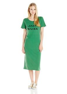 OBEY Women's Stay Weird Midi Tee Dress