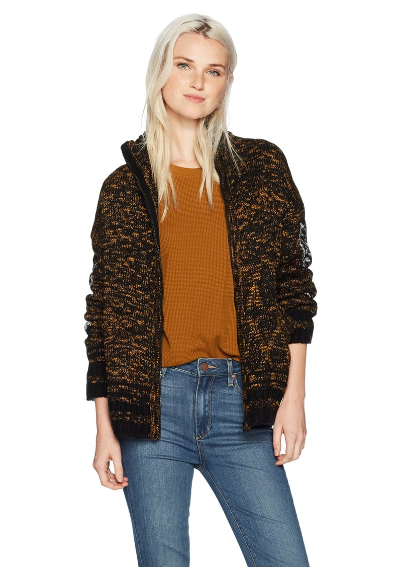 Obey Women's Tunnel Vision Zip Front Jacket  S