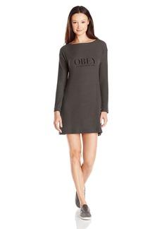 OBEY Women's Vanity Long Sleeve Sweater Dress