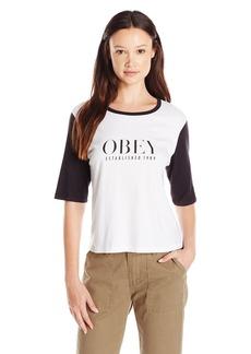 Obey Women's Vanity Owen II Color Block Graphic Tee