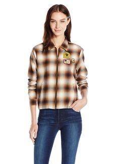 OBEY Women's Welner Flannel Zip-up Jacket  L