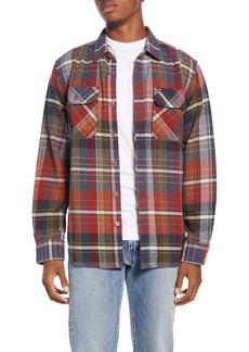 Obey Wyatt Trim Fit Plaid Flannel Button-Up Shirt