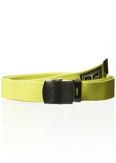 OBEY Young Men's BIG BOY WEB BELT Accessory -safety green O/S