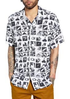 Obey Zine Print Camp Shirt