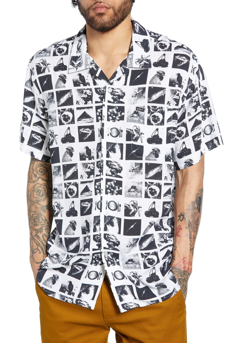 Obey Zine Print Camp Shirt