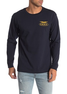 Obey Peace Justice 2 Brand Logo Long Sleeve T-Shirt