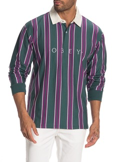 Obey Script Classic Long Sleeve Polo Shirt