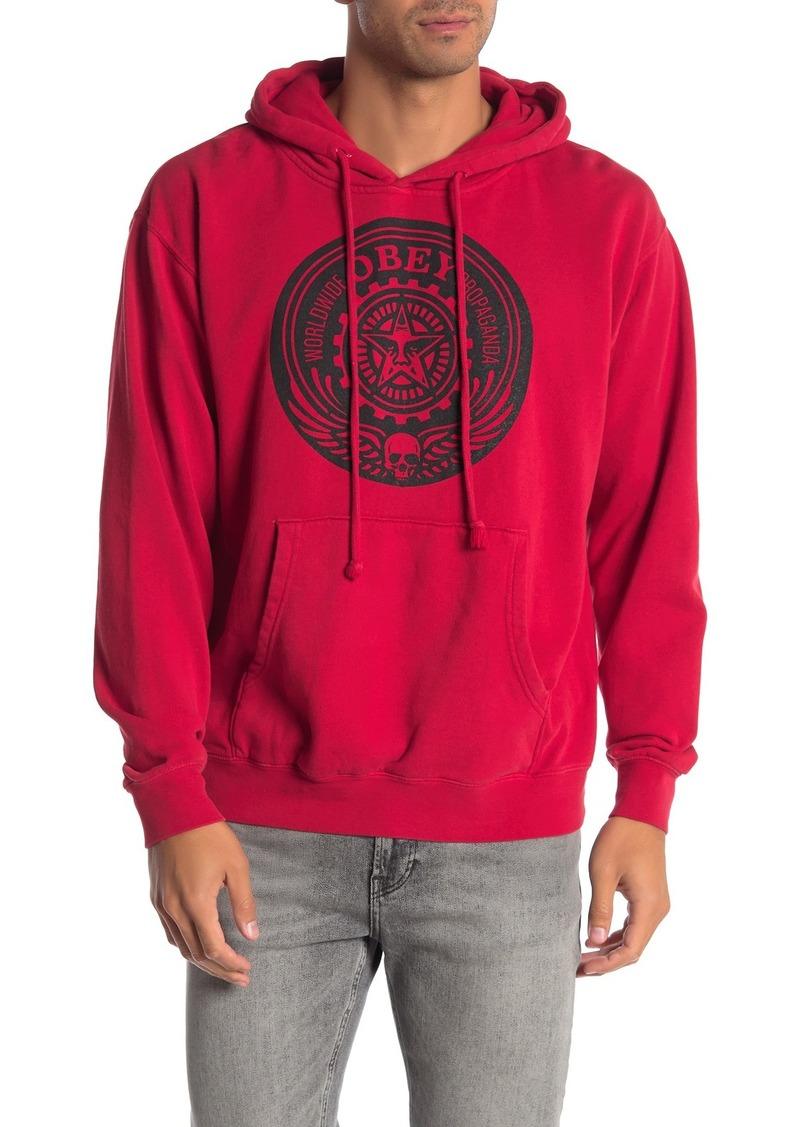 Obey Skull and Wings Brand Logo Pullover Hoodie