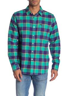Obey Ventura Plaid Print Flannel Shirt