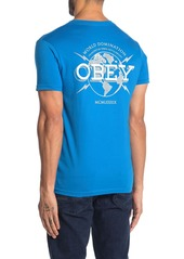 Obey World Domination Globe Graphic Print T-Shirt