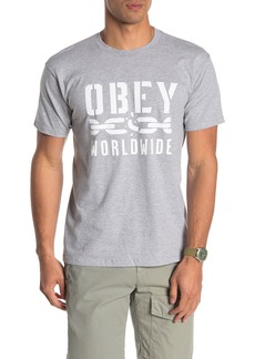 Obey Worldwide Chain Graphic Print Tee