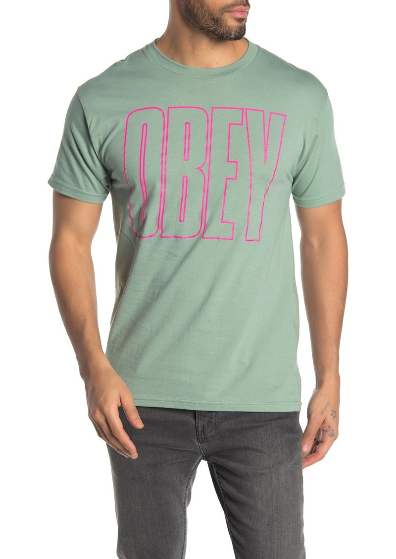 Obey Worldwide Line Crew Neck T-Shirt