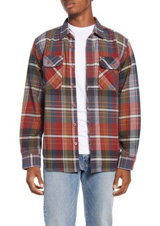 Obey Wyatt Trim Fit Plaid Flannel Button-Up Shirt