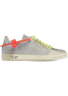 Off-White 20mm Arrow Glitter & Suede Sneakers