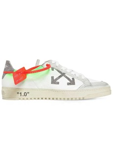 Off-White 20mm Arrow Leather & Glitter Sneakers