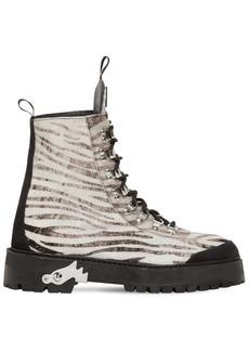 Off-White 40mm Zebra Suede Trekking Boots