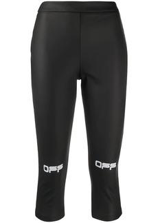Off-White logo print cropped leggings