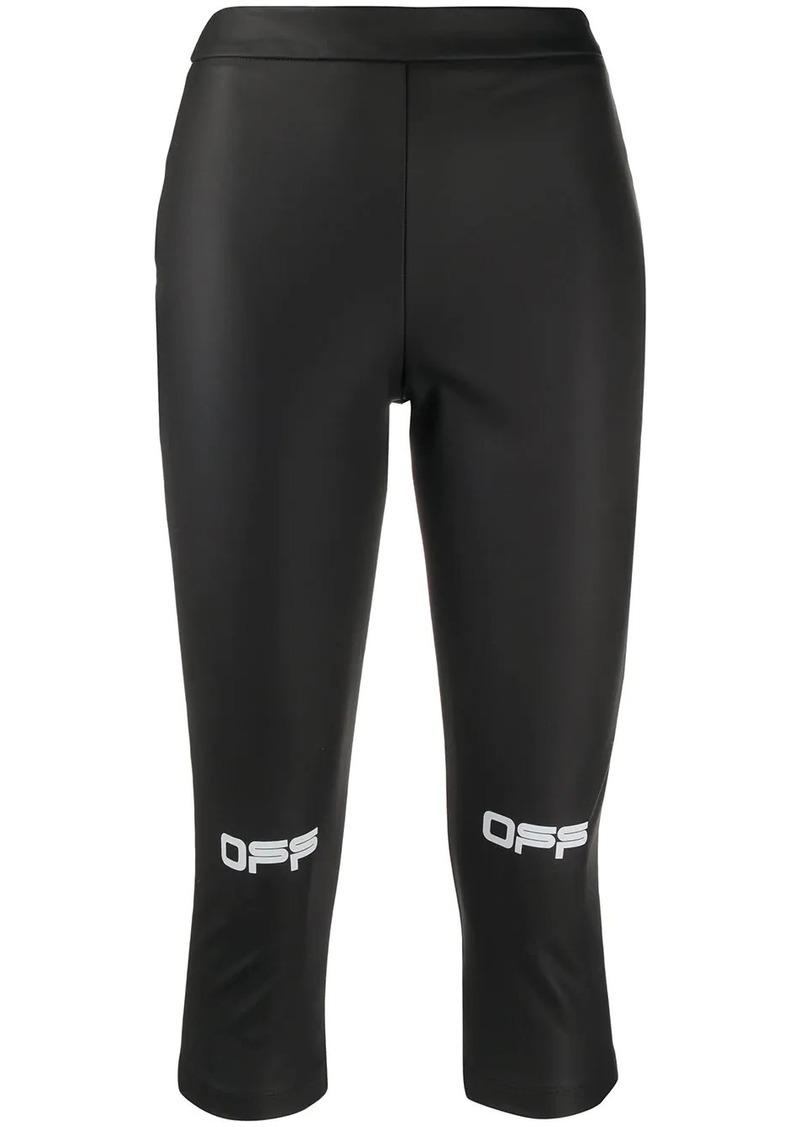 Off-White printed Off logo leggings